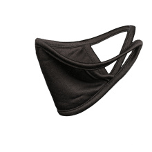 Pure Silk Knit face mask black