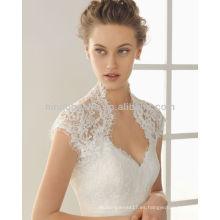 Por encargo 2014 vestidos de novia de la sirena del Applique del espagueti con una chaqueta del bolero del cordón plisados vestidos de boda del acento de la cinta NB011