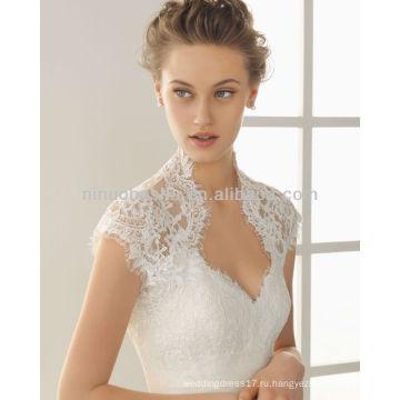 На заказ 2014 спагетти аппликация Русалка свадебные платья с кружево Болеро куртка складки ленты Accent свадебные платья NB011