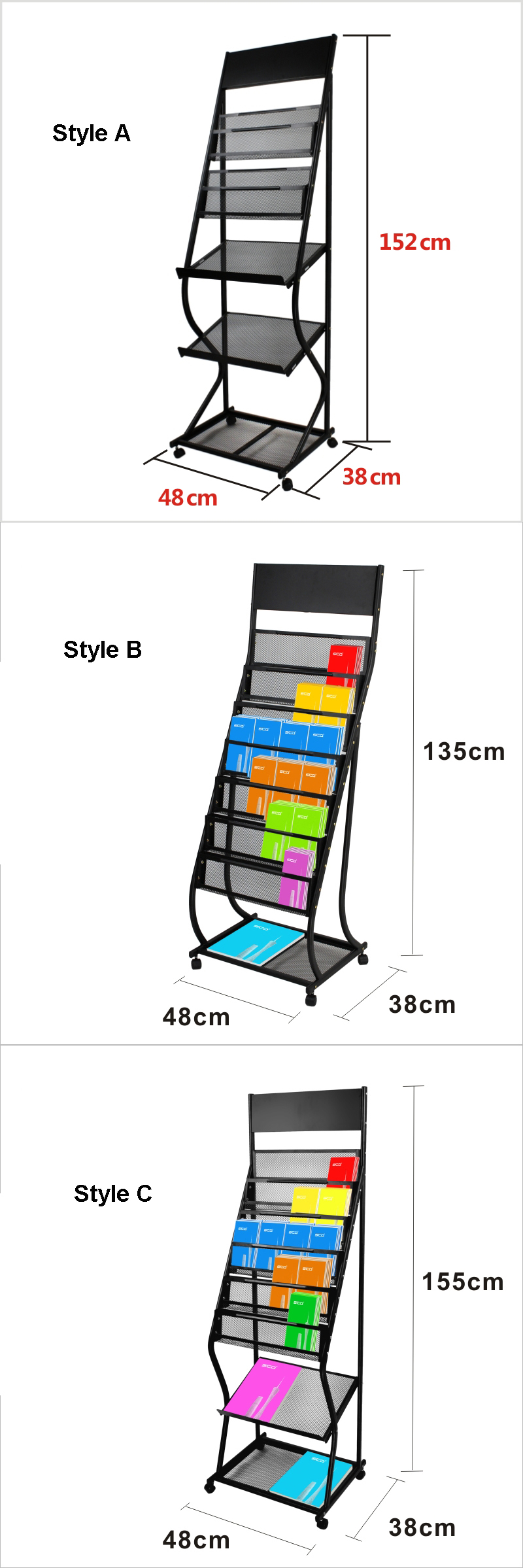 Metal Moveable Display Stand