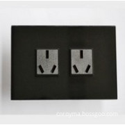US Standard, Wall sockets,with high quality acrylic super-white panel and ABS fireproofing plastic
