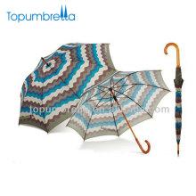 2018 nuevos productos papel damas moda raya imprimir paraguas