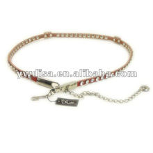 Korean Fashion Rhinestones Leather Waist Belt For Woman