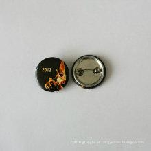 Emblema de estanho de botão, emblema de logotipo de impressão (HY-MKT-0022)