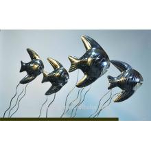2016 Escultura em aço inoxidável em forma de peixe da decoração nova da arte