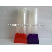 Emballage cosmétique Tube transparent en plastique