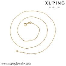 43503 collier de perles fantaisie pour femmes avec bijoux en or 14k