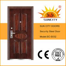 Metal Door for Apartment Single Door Steel Door Price (SC-S032)