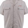 New Style Khaki Short Cotton Shirt
