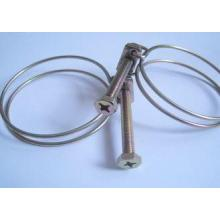 Flexible Stainless Steel Wire Clamps Marine With White-zinc