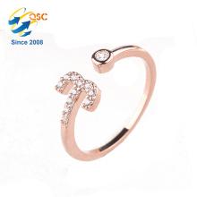 Zwölf Konstellationen Platin Rose Vergoldung Sterling Einstellbare Öffnung Silber Ring Set