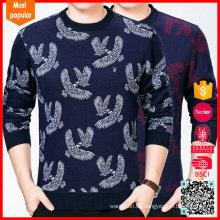 Norwegische Muster Eagle Herren Intarsien Pullover