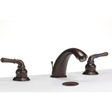 3 pieces widespread bathroom faucet