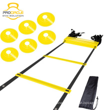 Procircle Flat Sports Adjustable Step Agility Ladder With Carry Bag