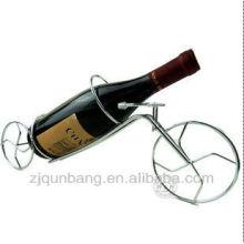 Estante de garrafa de vinho de ferro forjado