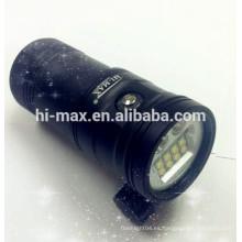 Alta intensidad submarina de buceo luz de la linterna de vídeo 5000lumen