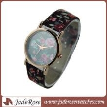 Reloj de cuarzo para mujer con correa de cuero