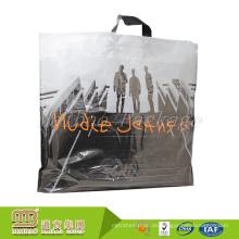 La bolsa de asas plástica grande reciclable de encargo de encargo resistente 100% biodegradable con las manijas suaves del lazo