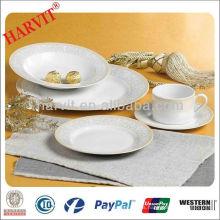Sistema de cena blanco de la porcelana 16pcs, sistema de cena de los niños