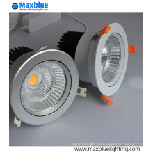 30W Loch 140mm Silber Gehäuse COB LED Einbauleuchte