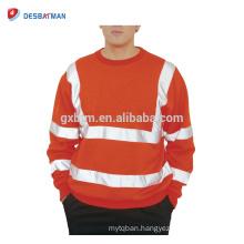 Mens Hi Viz Round Neck Safety Sweatshirt High Visability Workwear Work Jumper Sweat