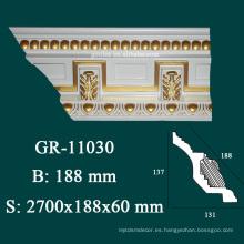 Artículos decorativos de lujo instalación de molduras de corona al por mayor para el diseño de techo
