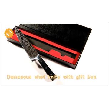 Aço carbono alto feito sob encomenda da lâmina de faca faca do cozinheiro chefe de 8 polegadas com a caixa de presente vermelha da flanela