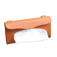 Car sun visor PU leather tissue paper box