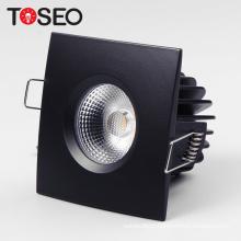 Black White Chrome Ip65 led downlight 230v square fireproof 10w led cob down light