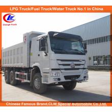 10 Wheel Sino Truck 6 * 4 25 ~ 30ton Payload Caminhão de descarga HOWO para areia e pedra