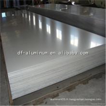 Feuille d'aluminium pour matériaux de construction