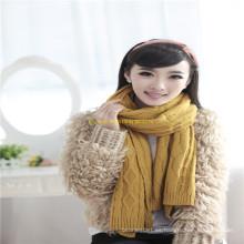 2016 nueva manera de la señora Fashion Winter Wool \ acrílico hizo punto la fábrica de la bufanda