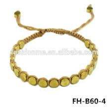 Braided hamsa steel bracelet