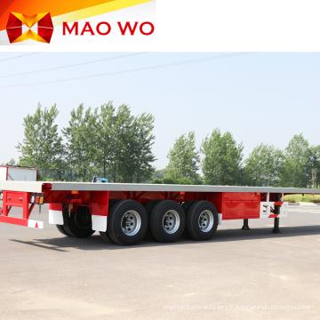Remorque de tracteur à plateau 3 axes de qualité supérieure de 40 pieds