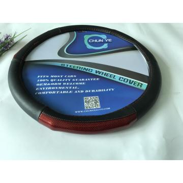 Truck pu/pvc leather steering wheel cover