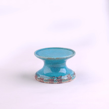 Vintage Blue Ceramic Candle Stands