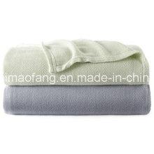 Woven Herringbone Weave 100%Bamboo Blanket (NMQ-BB004)