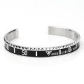 Custom Mens Stainless Steel Cuff Speedometer Bracelet