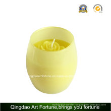 Round Votive Glass Candle for Wedding Gift Decor