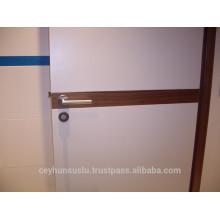 2017 Design porta lacada branca com placa decorativa de madeira LK202
