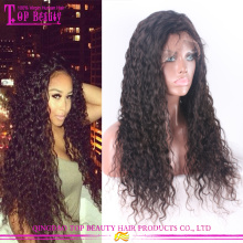 Fabuloso Virgem Brasileiro Peruca Afro Kinky Curly Lace Front Perucas