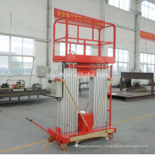 aluminum movable platform ladder lift/hydraulic table lift /skylift