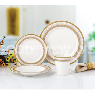 16 Piece Elegant Bone China