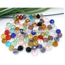 Perles en cristal de verre coloré, mélanger des cordes en cristal