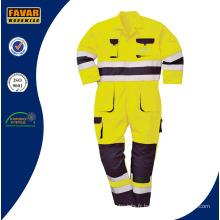 Vis haute jaune Orange protéger les vêtements de travail sécurité usure Coverall