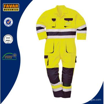 Hohen Vis gelb Orange schützen Workwear Safety Wear Coverall