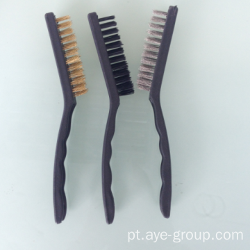 Escovas de arame com 3pcs Nylon Steel Brass Brush