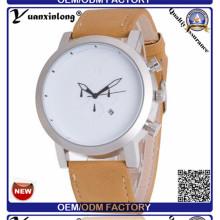 Yxl-378 neue Design aus echtem Leder Herrenuhr Chronograph Mvmt Datum Quarz Uhr Handgelenk