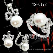 Conjunto único de joyas de plata de ley 925 en existencia (YS-0178)