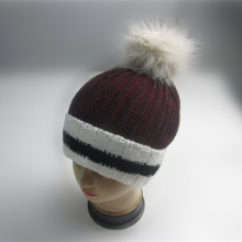 Custom Cuff Pompom Winter Hat